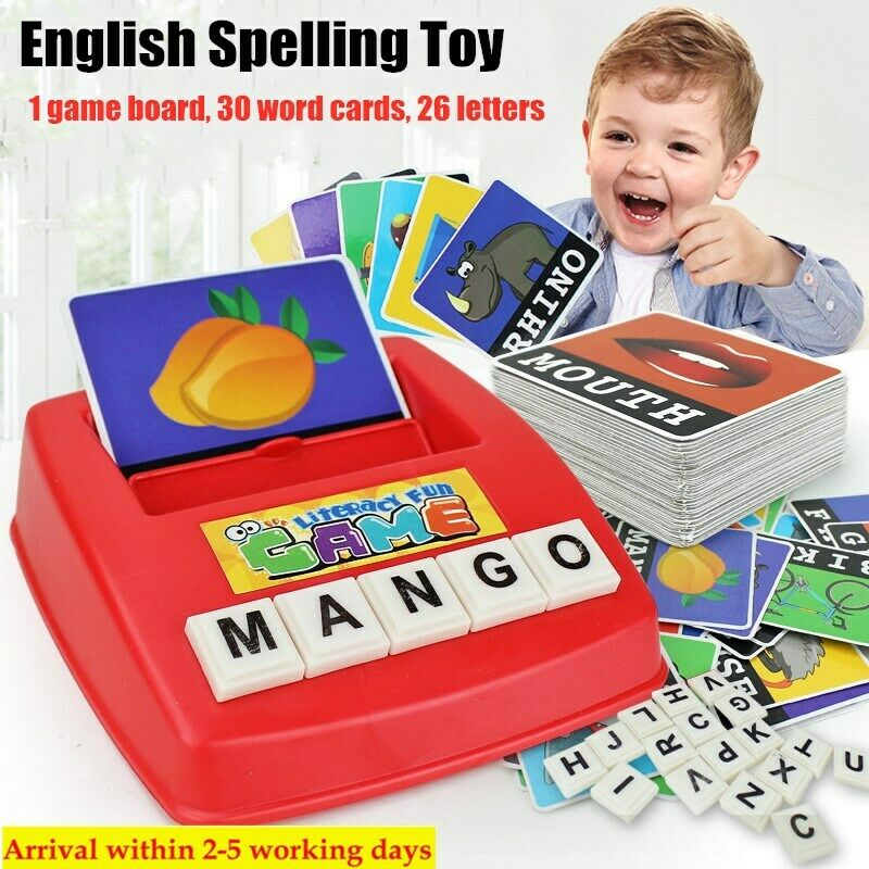 Educational English Spelling Alphabet Letter Game Early Learn Developmental Toys